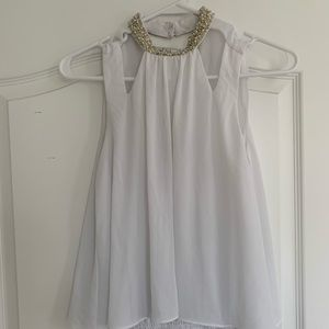 White sequins top